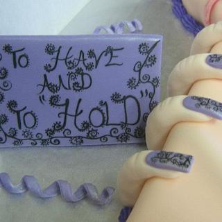 """""""to have and to hold"""" - Cake by CC's Creative Cakes and more..."""