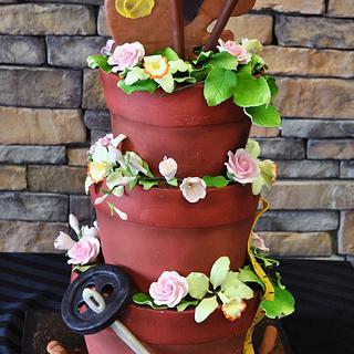 Flower Pot Custom 3d Cake - Cake by Leo Sciancalepore