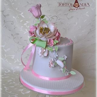 Birthday cake in pink - Cake by Tortolandia