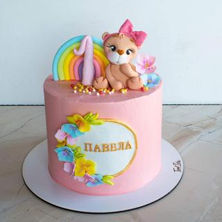 Cake with teddy bear - Cake by TortIva