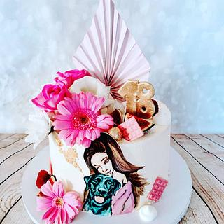 Girl and dog - Cake by alenascakes