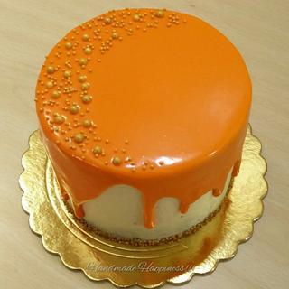 The orange drip! - Cake by Handmade Happiness
