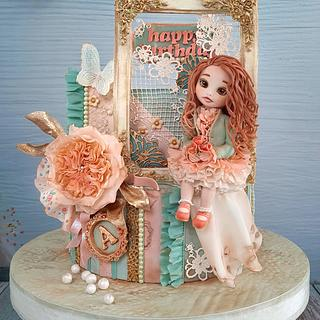 Shabby chic cake - Cake by Couture cakes by Olga