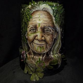 Hand painted shaman