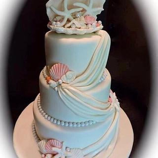 Nautical Wedding - Cake by Lisa