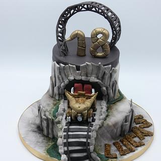Roller coaster cake  - Cake by Olina Wolfs