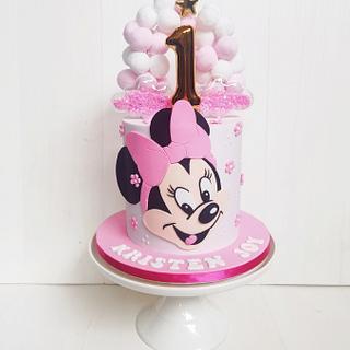 Oh Minnie, you're so fine!  - Cake by Lulu Goh
