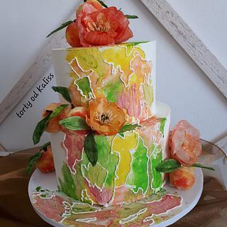 Birthday and wedding cake