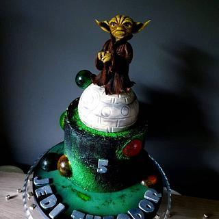 Yoda cake - Cake by Radoslava Kirilova (Radiki's Cakes)