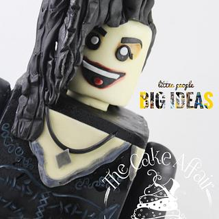 Bellatrix LEGO mini figure Cake. 'little people BIG IDEAS' collaboration