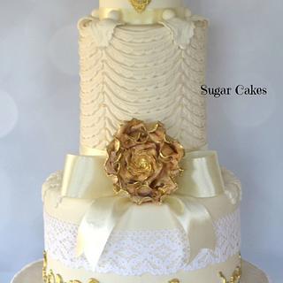 White & Gold Marie Antoinette Love