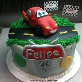 Cars 2 Cake - Cake by Jeanette Rodriguez