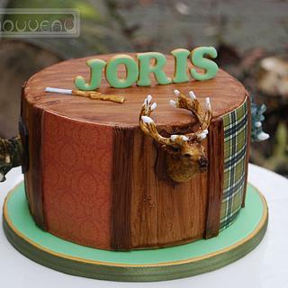 Hunting Theme Cake