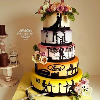 Wedding cake. - Cake by Torturi Mary