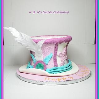 Fancy hat cake - Cake by Konstantina - K & D's Sweet Creations