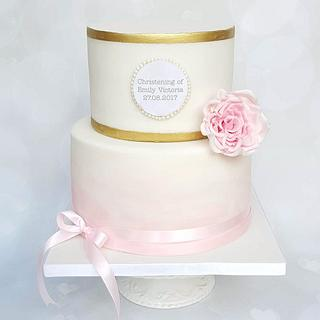 Simple christening cake