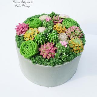 Buttercream Succulents