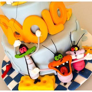 Oggy cake-  OGGY E I MALEDETTI SCARAFAGGI