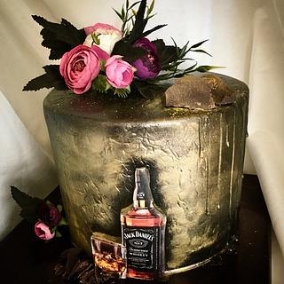 Black cake whis whiskey