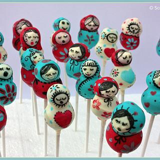 Russian Doll Cake Pops