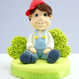 Boy cake topper