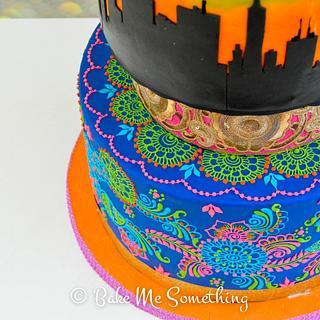Vibrant Wedding Cake - Cake by bakemesomething