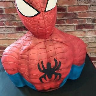 Spiderman Bust Cake - Cake by Cakes By Julie