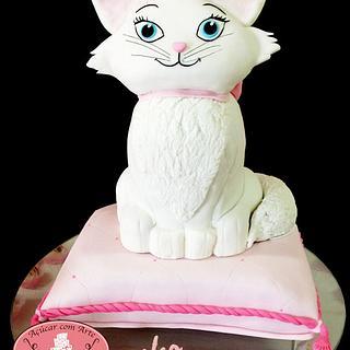 Cake carved Marie Cat - 100% edible - 80cm - Cake by Açúcar com Arte