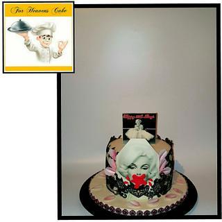 Maralyn monroe bubblegum cake