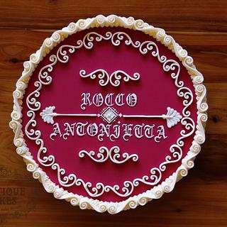 Vintage ornate sugar plaque  - Cake by Vintique Cakes (Anita)