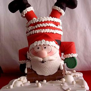"3D FONDANT CAKE ""SANTA CLAUS"""