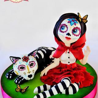 Red Riding Hood Blythe Skull - Sugar Skull Bakers Collaboration 2015