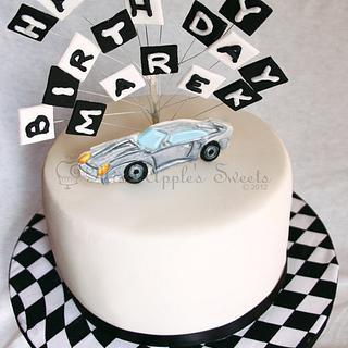2D car Birthday cake