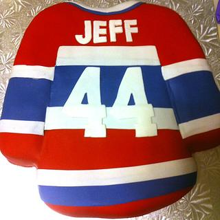 Montreal Canadians Jersey Cake