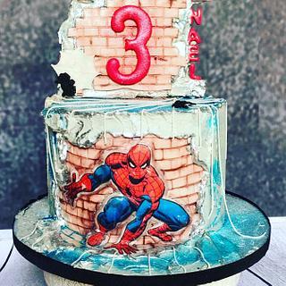 Spiderman Fault Line cake