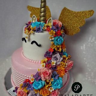 Unicorn Cake - Cake by Paladarte El Salvador