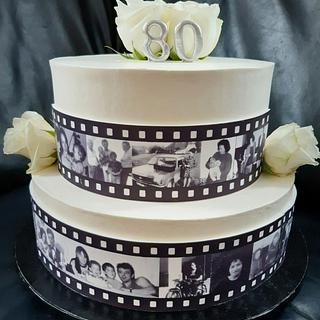 Movie tape cake