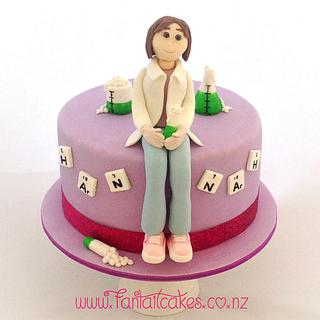 Hydrogen, Argon, Nitrogen, Nitrogen, Argon, Hydrogen - Cake by Fantail Cakes