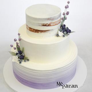 lavaner rustic wedding cake