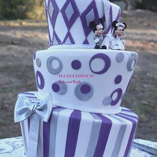 Topsy Turvy Wedding Cake - Cake by Louise Neagle