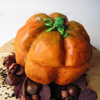 Pumpkin with sweet surprise
