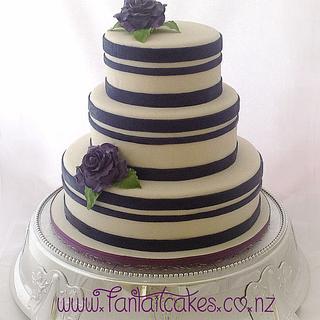 Modern Wedding Cake - Cake by Fantail Cakes