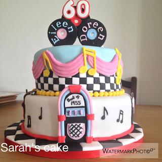Rock & Roll 60th Cake