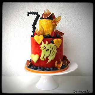 Fruit Cake with horse