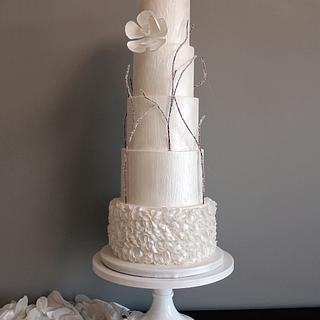 Winter's Love Wedding Cake