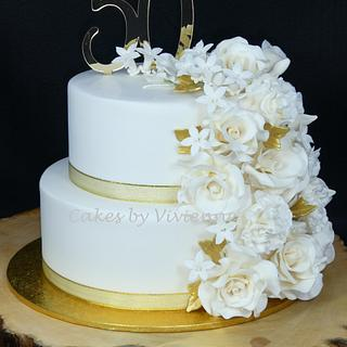 50th Wedding Anniversary Cake - Cake by Cakes by Vivienne