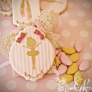 Ballerina royal icing cookies
