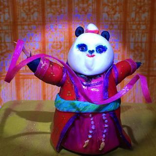 Ribbon dancing Mei Mei