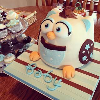 3D Baby Shower Owl Cake