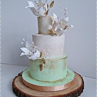 Vintage birthday cake - Cake by Zuzana Kmecova